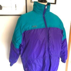 Vintage ski down  reversible jacket